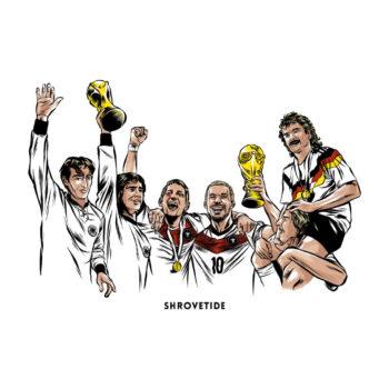 Fußball Weltmeisterschaft T-Shirt WM Helden